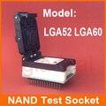 Lga52 ic 60 chip de memoria nand programador zócalo de la prueba para el iphone ipad cambiar el número de serie