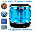 New 2015 S28 Portable Mini Bluetooth Speakers Metal Steel Wireless Free Speaker With FM Radio Support SD Card For iPhone