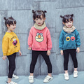New 2016 Boy Girls  Clothes Children's thick Sweaters baby Kids cartoon outerwear Plus velvet Coat   Tops Costume