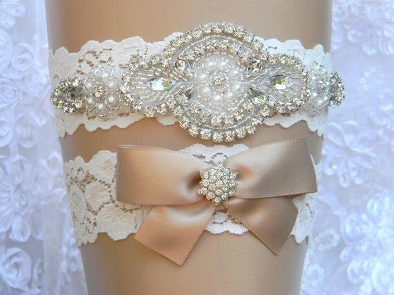mariage jarretire dentelle fleur nuptiale jarretire perle et strass jarretire et toss jarretire set accessoires de - Achat Jarretire Mariage