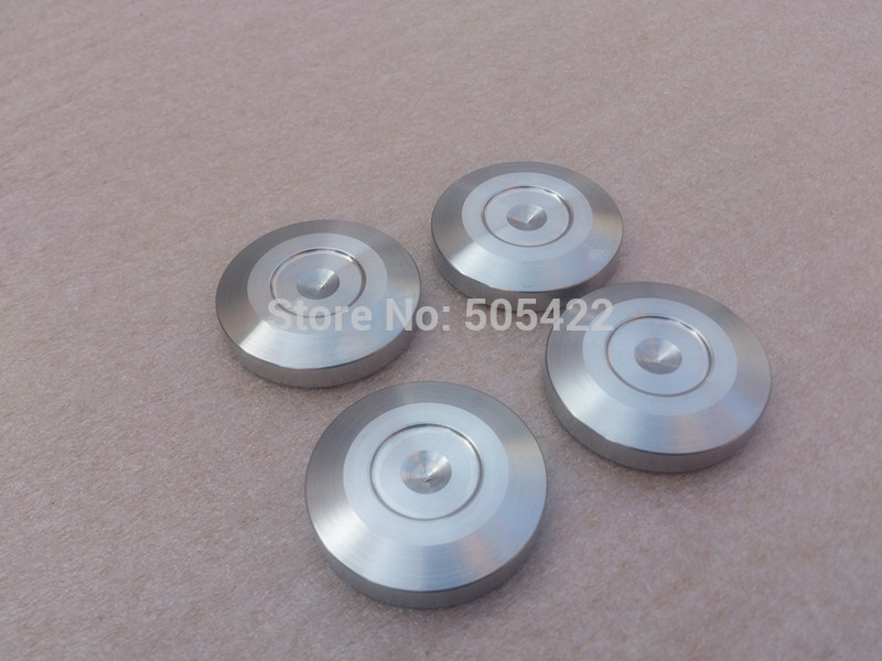 8PCS LOT 304 Stainless Steel Isolation Spike DISC Pad Floor Base for Speaker Amplifier 39x8mm