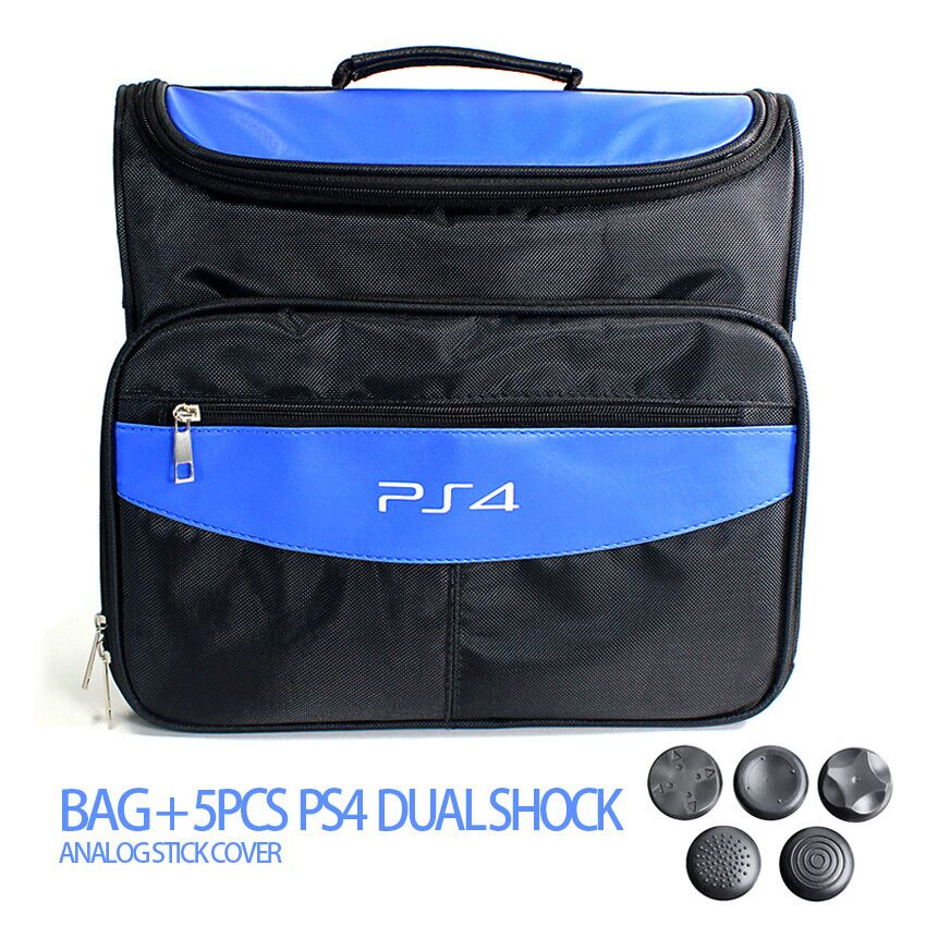 Aksesoris game untuk PS4 & PS4 Slim tas Travel Carry Shoulder Bag Untuk Sony PS4 VR Playstation 4 Console + 5 pcs Analog Cap
