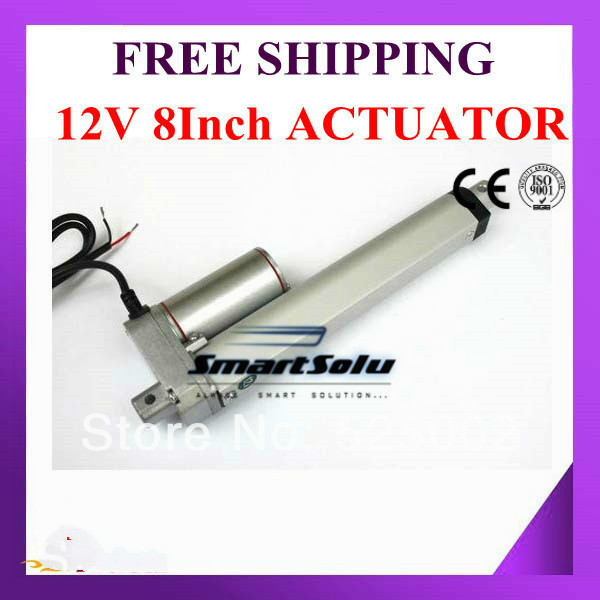 Pneumatic Parts Free Shipping 12V DC 8inch/ 200mm stroke linear actuator 10mm/s speed 1000N/225lbs/100kgs Force-SL14 free shipping500mm central distance 200mm stroke 80 to 1000n force pneumatic auto gas spring lift prop gas spring damper