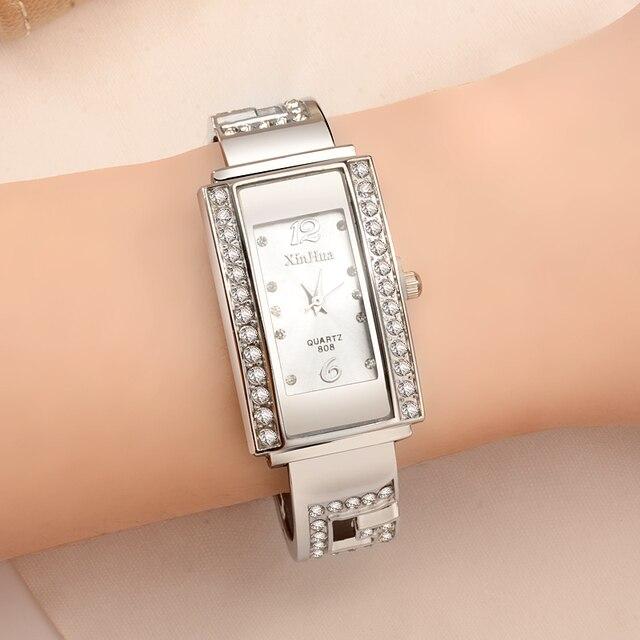 Fashion Women's Watches Luxury Diamond Bracelet Watch Women Watches Silver Ladie