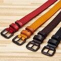 2016 Nueva Llegada Mujeres de Lujo de la Correa Pin Hebilla de Cinturón Cinturón de Estampado Retro de Cuero 100% Genuino Espera Banda cinturones mujer W249