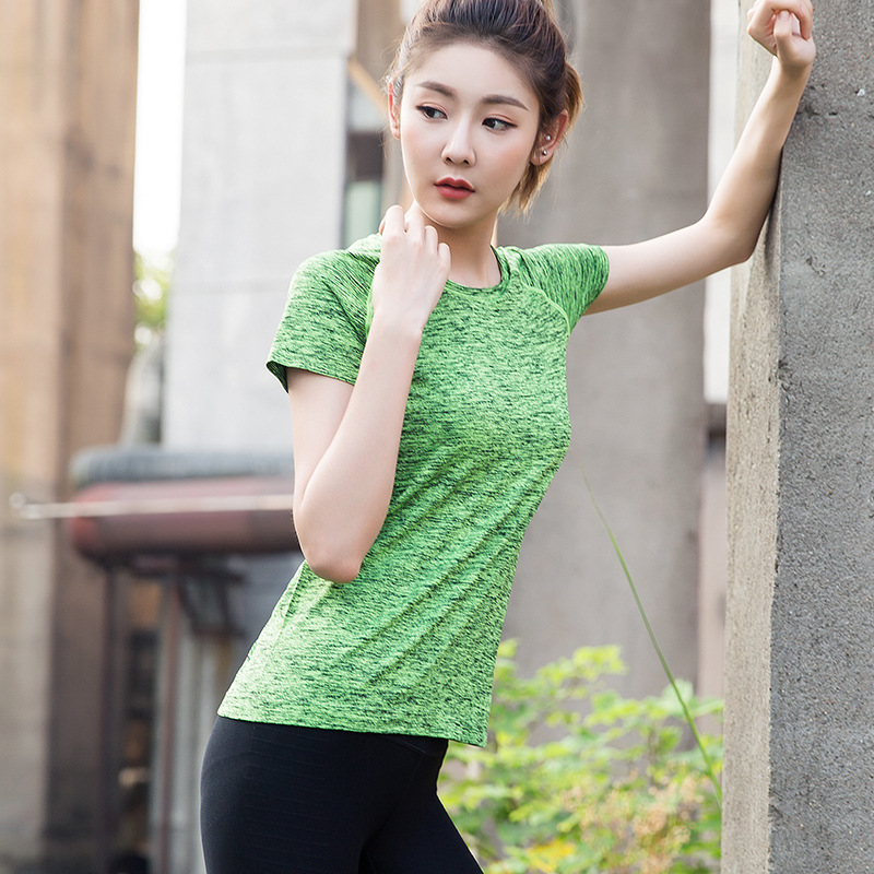 2018 Women T Shirt professional sports Quick Drying Fitness T-shirt short-sleeve exercise clothes T-shirt running