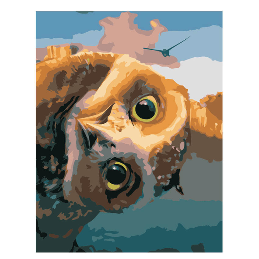 WEEN Funny Owl Painting By Numbers Animal Diy Acrylic Coloring Drawing Modular Canvas Pictures For Living Room Artwork 16*20Inch