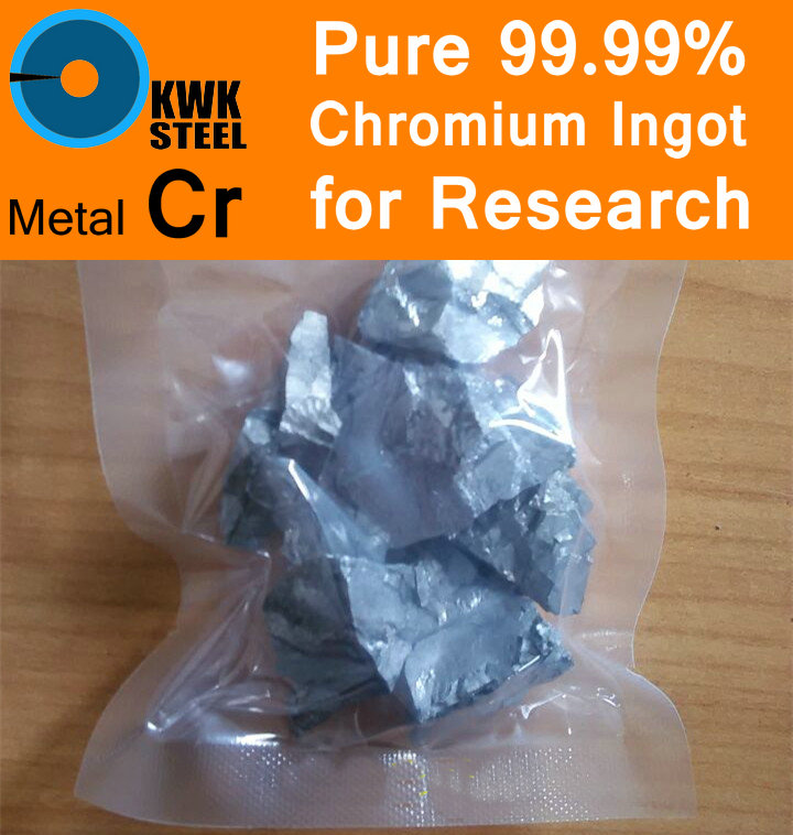 Pure Chromium Ingot 99.99% Cr Solid Particles Grain Granule Metal Cr KWKSTEEL University Experiment Research Free Fast Shipping