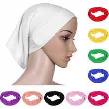 New Women Under Scarf Hat Cap Bone Bonnet Ninja Hijab Islamic Neck Cover Head Scarf Solid Muslim Under Scarf Hijab Cap martyn wyndham under cover