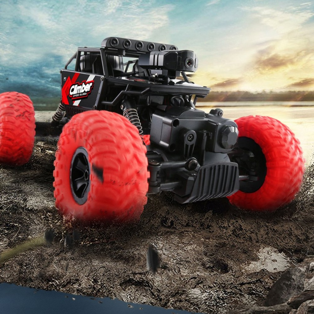 OCDAY 1:32 4CH 2WD 2.4 GHz Mini tout-terrain RC voiture de course camion véhicule haute vitesse 20 km/h jouet à distance pour les enfants