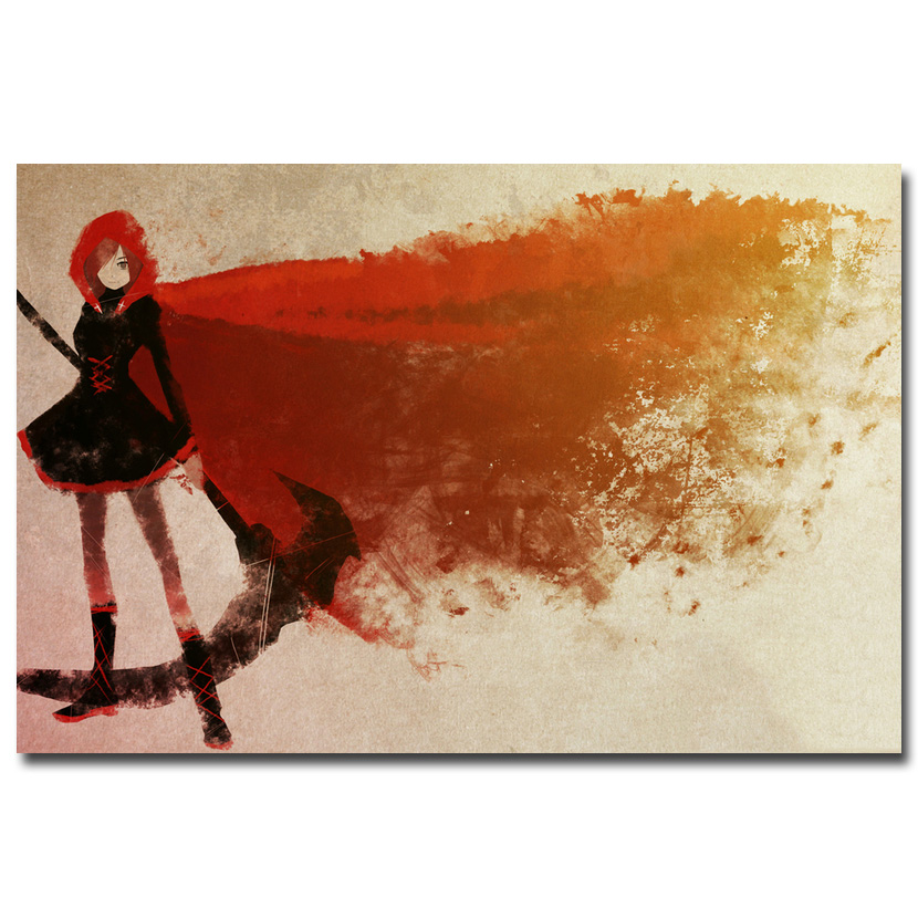RWBY <font><b>Volume</b></font> <font><b>2</b></font> 3 Anime Cartoon <font><b>Art</b></font> Silk Fabric Poster Print 12x18 24x36 inch Wall Pictures Room Decor Ruby Rose Weiss Schnee 041
