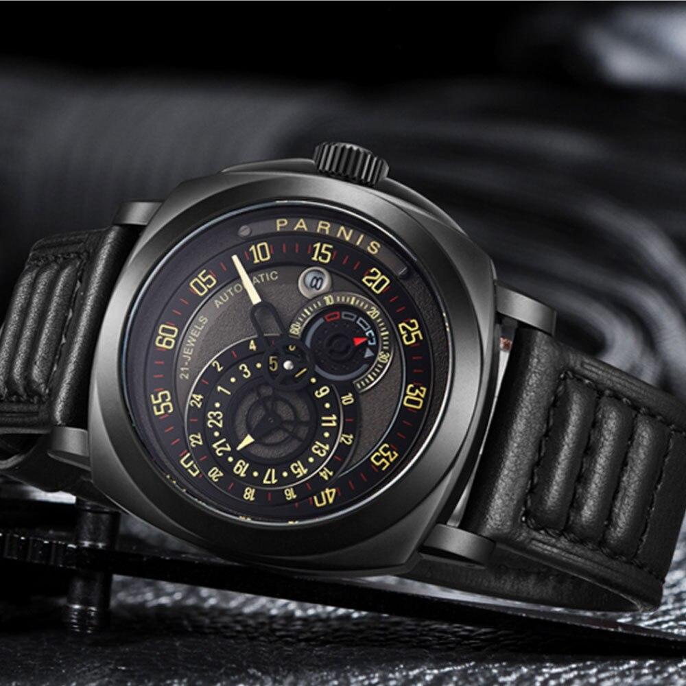preto calendário miyota relogio masculino relógios marca