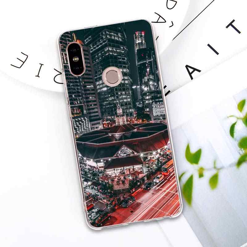 NYC Нью-Йорк пейзаж силиконовый чехол для Xiaomi mi 9 8 A2 Lite Play mi x3 Red mi 6 6A Note 6Pro 7 Pro TPU мягкий чехол для телефона