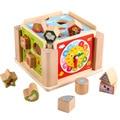 Montessori jouets éducatifs en bois géométrique Montessori matériaux horloge jouets pour enfants apprentissage précoce Juguete Madera UE1164H