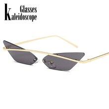 760e26700 النساء الرجال القط العين بدون شفة النظارات الشمسية ضيق خمر العلامة التجارية  مصمم المعادن عدسات عاكسة نظارات ظلال الرجال نظارات ش.