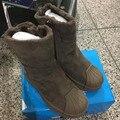 CCTWINS NIÑOS bebé botas de nieve niñas de piel de invierno de cuero real botas de los niños botas niños botas calientes de la marca de moda marrón negro
