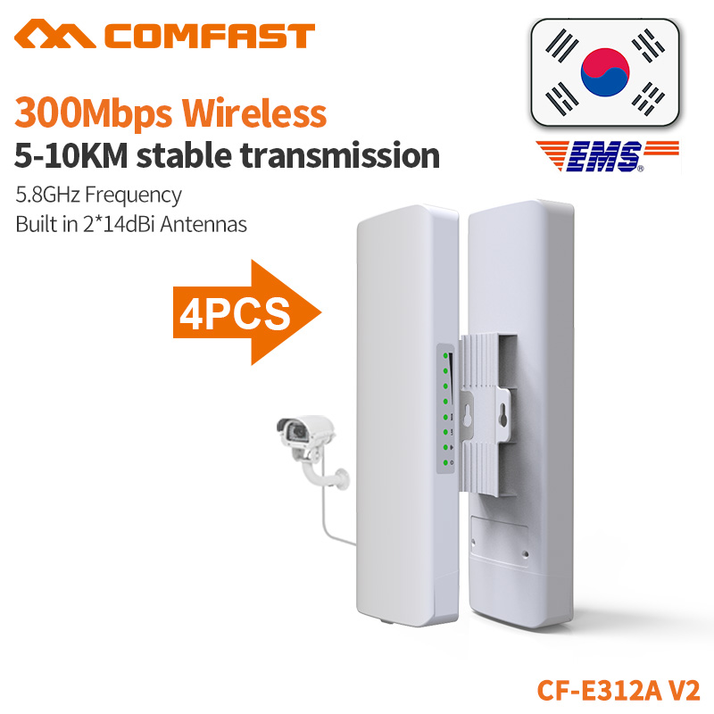 COMFAST 300Mbps Wifi Bridge Outdoor CPE 5 8G Watchdog Chip 5KM Signal Extender Wifi Receiver Router