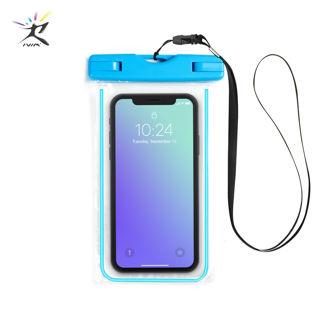Swimming Bags Mobile Waterproof Bag Outdoor Sports Drifting Water Sports Phone Protect Case With Luminous Touch Screen Case Bag