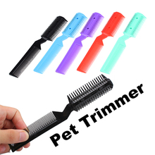 1 Pcs Superior Dog Trimmer Random Color Simple Hair  Grooming Comb 2 Razor Cutting Remover Brush Pet Cat Accessories Supplies