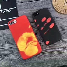 Matte PC Fashion Physical thermal discoloration Funny Thermal Sensor Back Coque Cover case For iphone 7 plus 6 plus 6s plus