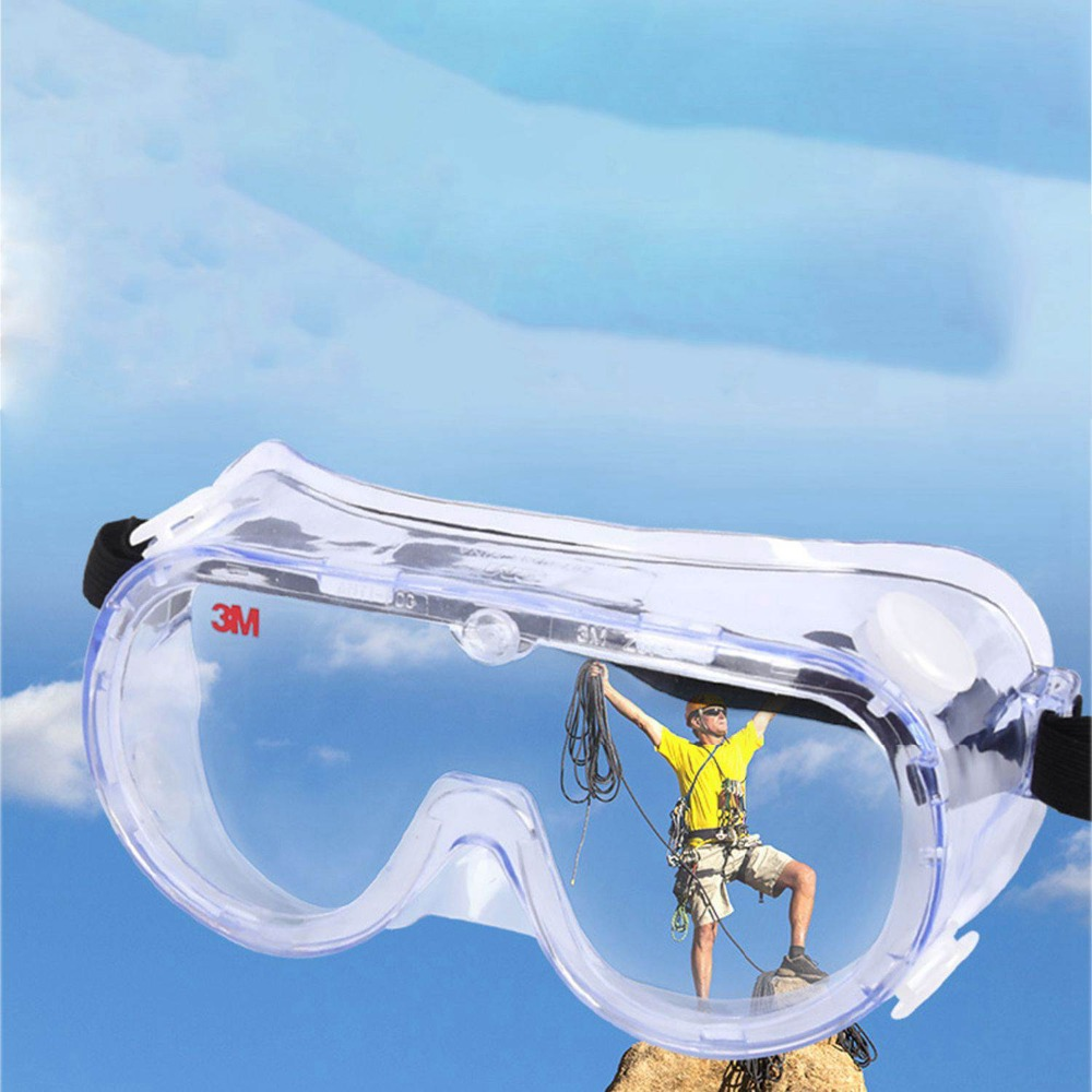 MOOL 2018 New Hot Sale Anti-Impact Anti Chemical Splash Safety Goggles Economy Clear Lens Eye Protection Dust Laboratory Glasses