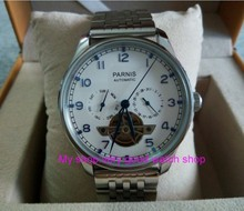 43mm PARNIS  Automatic Self-Wind Mechanical movement men's watche multifunction Auto Date and Automatic week zdgd14a