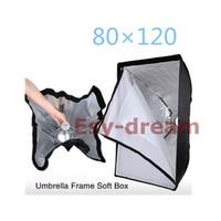 80*120cm (2.6*3.9ft) Umbrella Frame Photo Studio Rectangle Softbox Soft Box for Photography Strobe Flash Lighting PS116