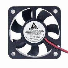 GDT 2pin 50mm 50x50x10mm sleeve bearing dc brushless fan 5v 12v