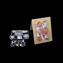 Flower frame Craft metal cutting dies cut die decoration Scrapbook paper photo craft knife mould blade punch stencils dies