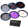 K&F Concept 40.5mm UV CPL FLD Lens Filter+Neutral Density ND2 ND4 ND8 ND 2 4 8 Filter Kit for Nikon for Sony DSLR Camera Lens
