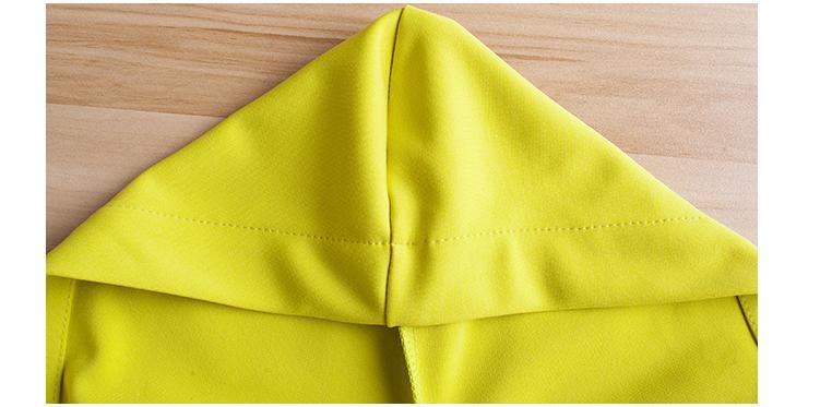 Capuche Printemps Femelle yellow Black Nouvelle Simple Coupe Longues À 2018 red Manches vent Mince Décontractée Veste Section Longue 6dqWZ7wT