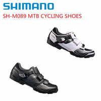 シマノ SH-M089 サイクリング靴 SPD SPD-SL MTB マウンテンバイク Shose ブラック/ホワイト