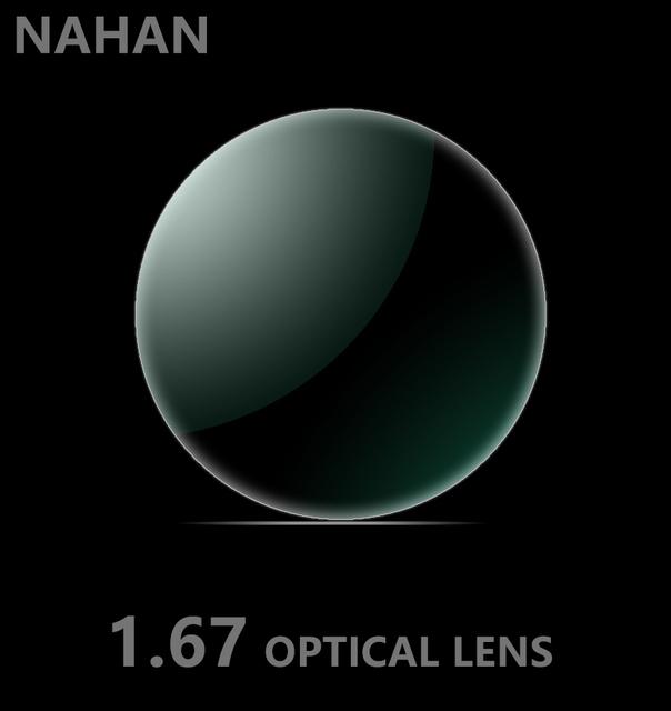 1.67 lentes asféricas de radiación ultra-delgado de alta definición película verde con alta dureza resina de lentes de gafas CR-39