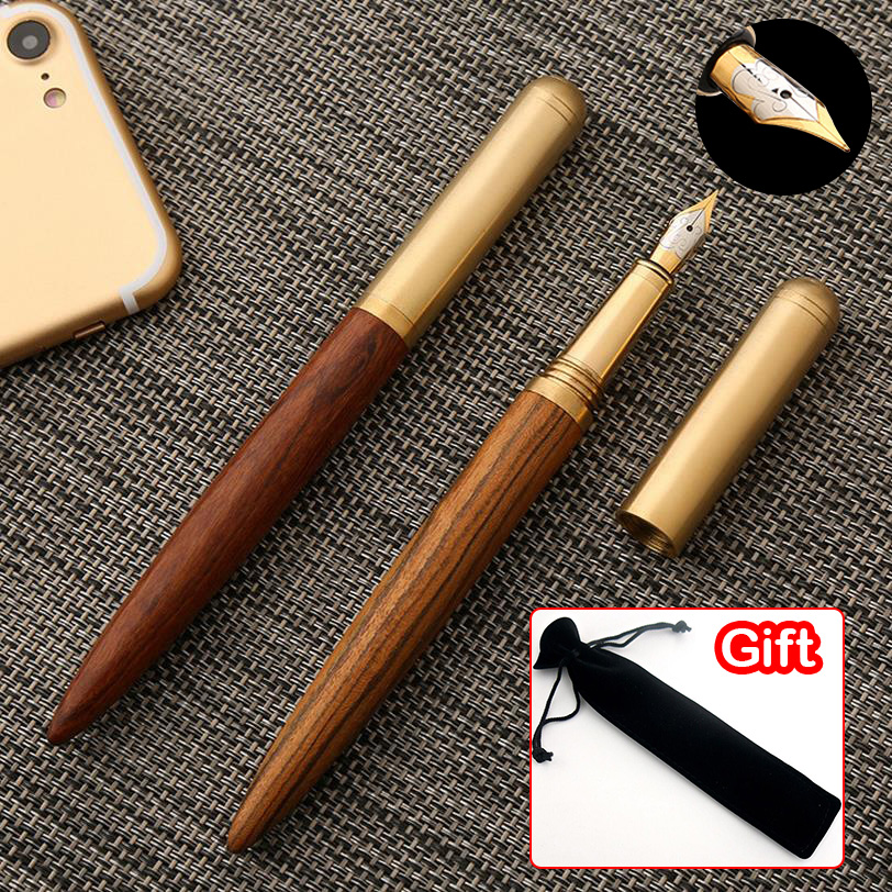 1PCS High Quality Wood Business 0.7mm Fountain Pen Ink Pen Nib Stationery Writing Gift Signing Pen Office School Supplies 03839 high quality luxury wood fountain pen iraurita ink pen 0 7mm nib caneta stationery office supplies with pen bag for gift 03839