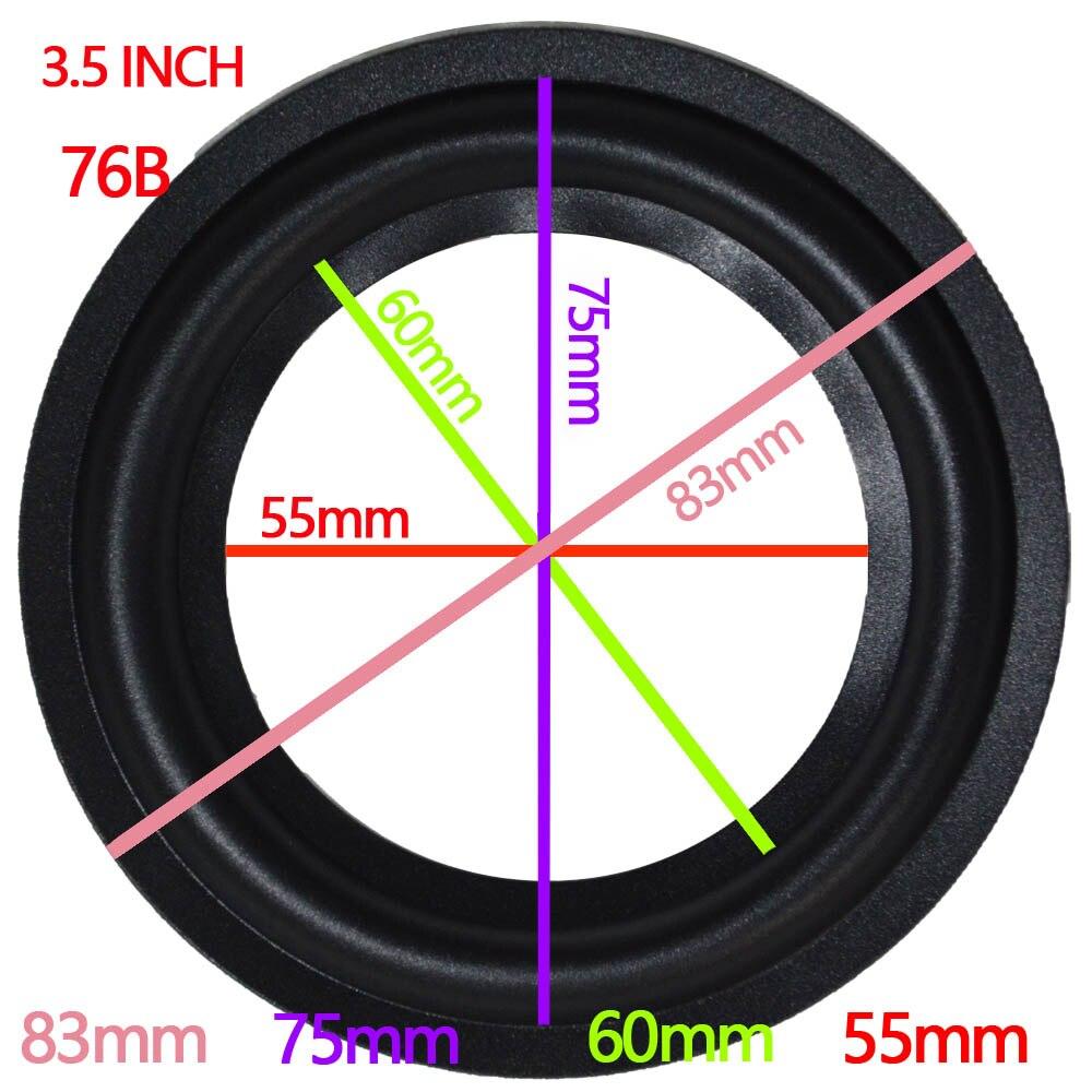 Black 3.5 Inch Perforated Rubber Speaker Foam Edge Surround Rings Replacement Parts For Speaker Repair Or DIY 1 Pair