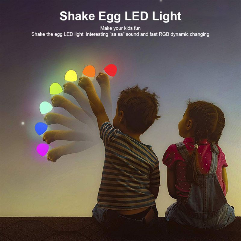 Rechargeable Egg LED Night Light 4 Lighting Modes Shake RGB Color Touch Control Changing LED Light As Birthday Gift For Kids