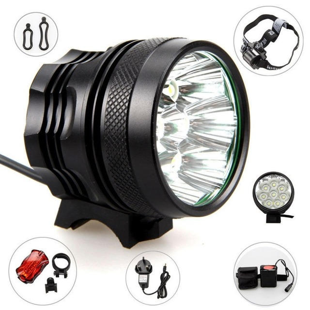 WHeeL UP LED super bright 6 set mountain headlights 7T6 bicycle lights 2018