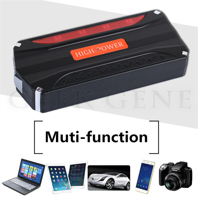 High Capacity 12000mAh 600A Peak Car Battery Charger Multi-Function 12V Car Jump Starter 4USB Power Bank SOS Lights Free Ship
