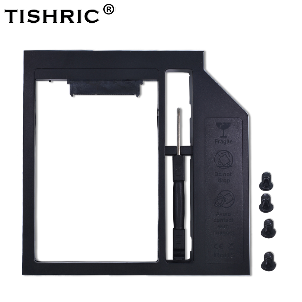 TISHRIC Plastic Optibay 2nd HDD Caddy Box 9.5mm SATA 3.0 For 9/9.5mm 2.5