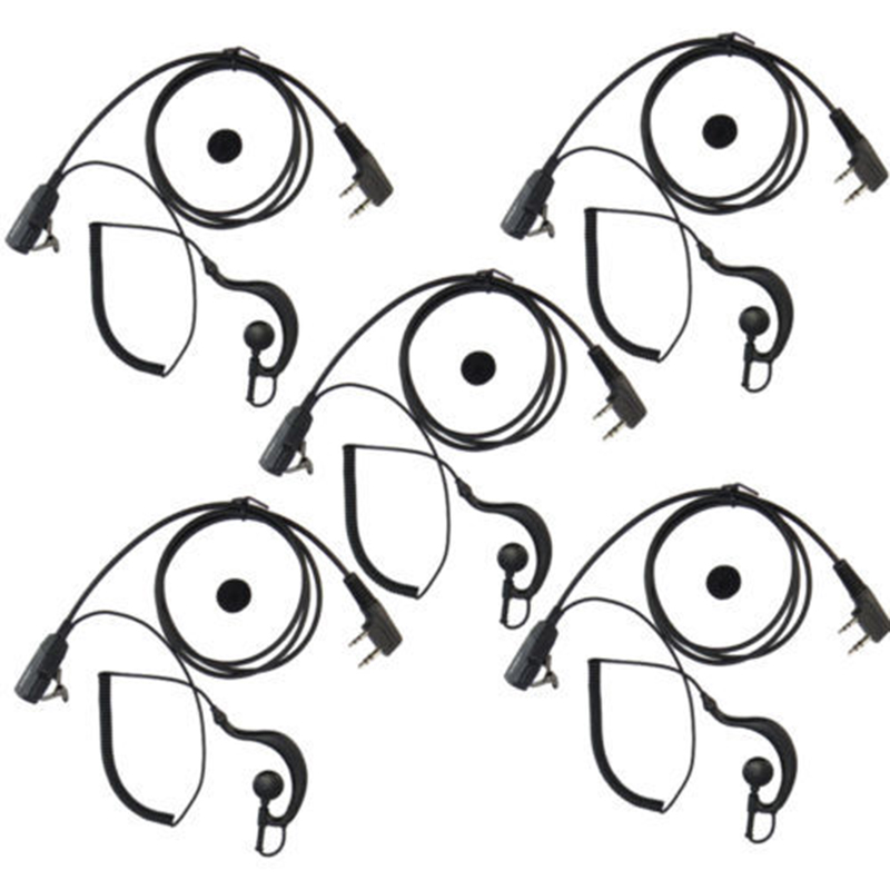 imágenes para 5 UNIDS 2 PIN Auricular Auricular Para BaoFeng UV-5R/5RE/5RB/UV82/888 S Walkie Talkie baofeng Micrófono Altavoz micrófono auricular auricular