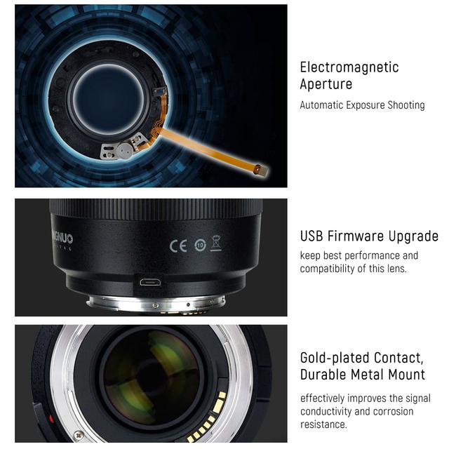 YONGNUO YN50mm Lens YN50mm F1.4 Standard Prime Lens Large Aperture Auto Focus Lens for Canon EOS 70D 5D2 5D3 600D DSLR Camera