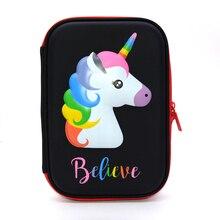 unicorn pencil case Kawaii estuche escolar Creative trousse scolaire stylo Flamingo kalem kutusu pencilcase