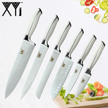 hot deal buy xyj stainless steel kitchen knives paring utility santoku chef slicing bread kitchen knife accessories stainless steel knife