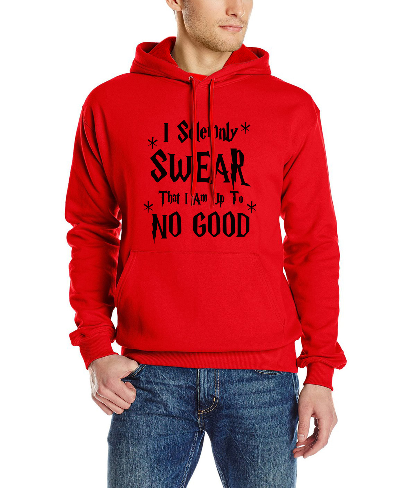 2017 autumn winter new style hoodies brand tracksuit I Solemnly Swear That I Am Up To No Good Funny letter print men sweatshirt