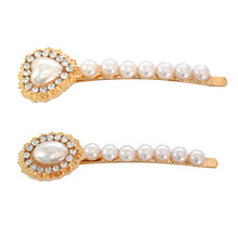 SANSUMMER Rhine Stone Pearl Zinc Alloy Glittering Exquisite Women Jewelry Romantic Sell Well Casual Hairwear 5636
