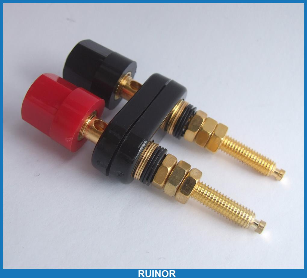 20pc Double Gold Plated Binding Post for Speaker 4mm Banana Plug Power Amplifier 60pcs 6 color binding post for speaker amplifier banana plug test probe cables