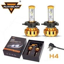 Auxbeam 2 unids 6000 K Cree Chips 80 W/pair Hi-lo Haz H4 Led Linterna del coche De SUV de Lujo de Oro de Grado de los Aviones De Aluminio Incorporado ventilador