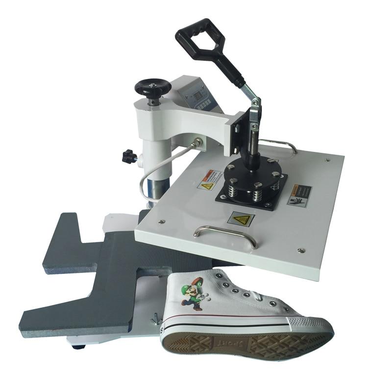 Digital Shoe Heat Press Machine , Shoes Sublimation Heat Transfer Machines shoes logo printer 1 pcs 38 38cm small heat press machine hp230a