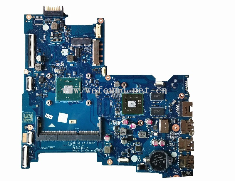 Laptop Motherboard For 854942-601 854942-501 854942-001 15-AY N3710 LA-D702P System Mainboard Fully Tested