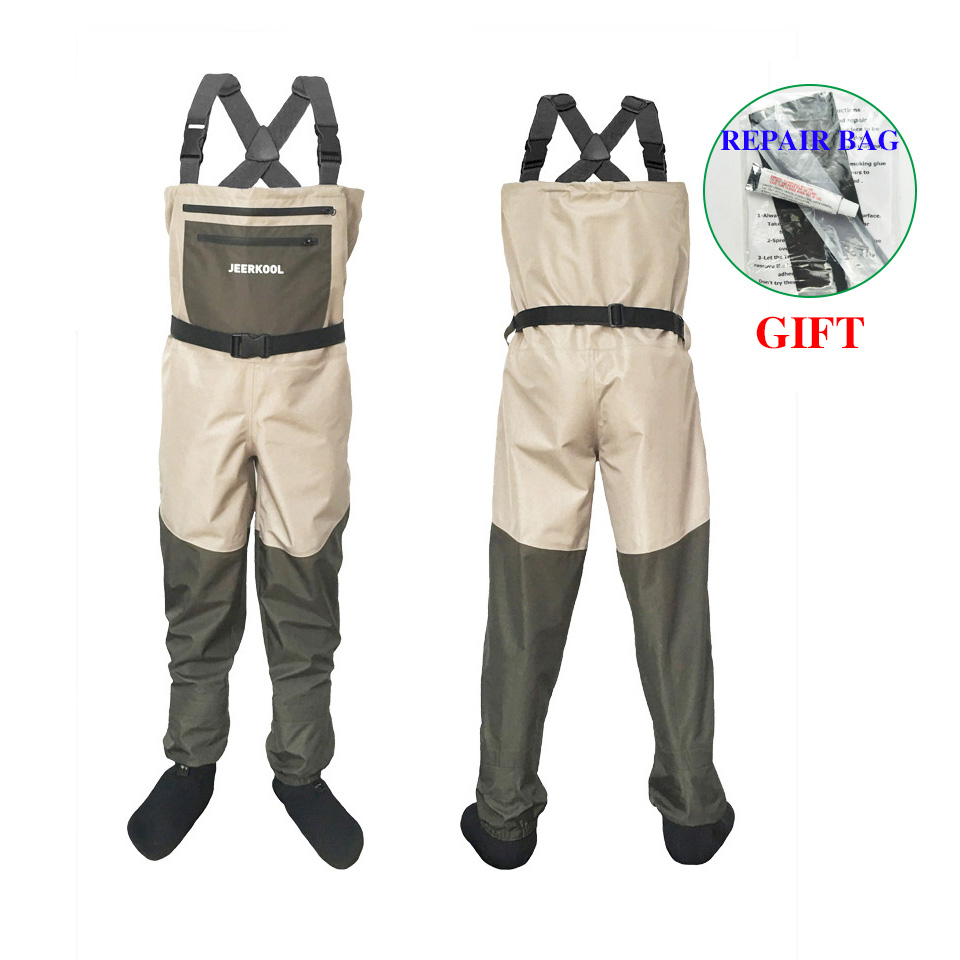 Outdoor Fly Fishing Waders Stocking Foot Waterproof Breathable Chest Overall Hunting Wading Pants Clothes For Shoe